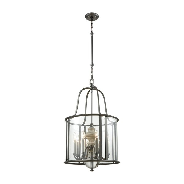 Meng 8 - Light Lantern Geometric Chandelier With Crystal Accents By Gracie Oaks