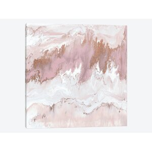 'Mineral in Pink' Painting Print on Canvas by Mistana