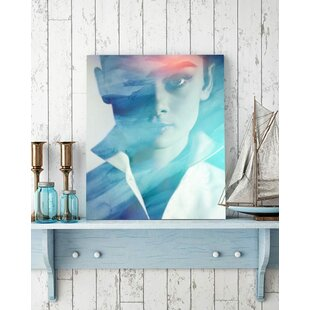 Modern Audrey Hepburn Wall Art On Wred Canvas