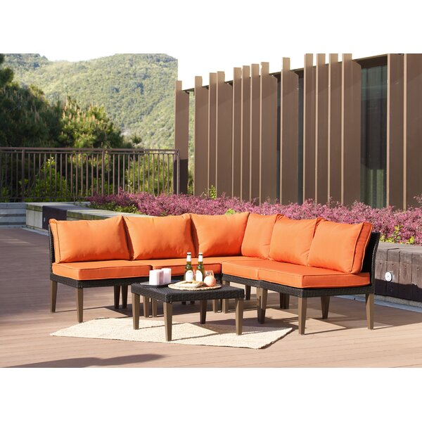 Fenwick Landing 6 Piece Rattan Sectional Set With Cushions By Ebern Designs