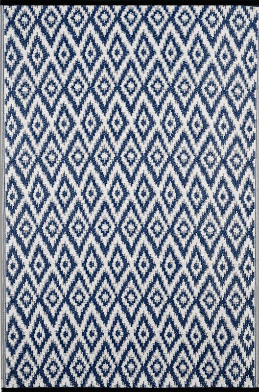 longweave handgewebter au enteppich in blau wei bewertungen. Black Bedroom Furniture Sets. Home Design Ideas