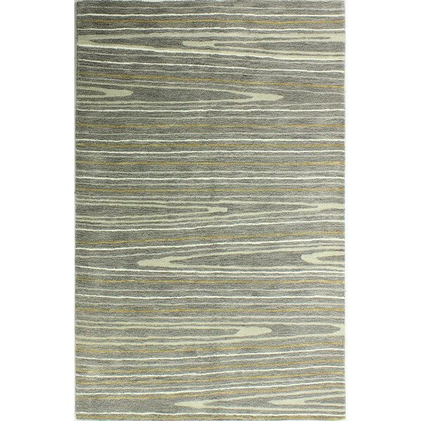 Kelson Hand-Tufted Gray Area Rug by Latitude Run