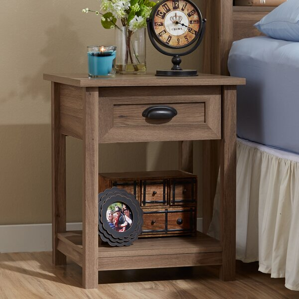 Rossford 1 Drawer Nightstand By Three Posts