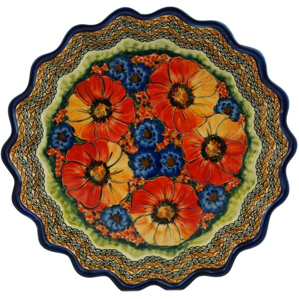 Bright Beauty Fluted Pie Dish by Polmedia
