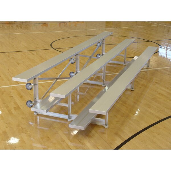 3 Row Tip and Roll Aluminum Bleachers Bench by Hig