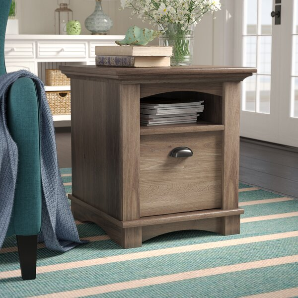 Pinellas End Table With Storage  by Beachcrest Home