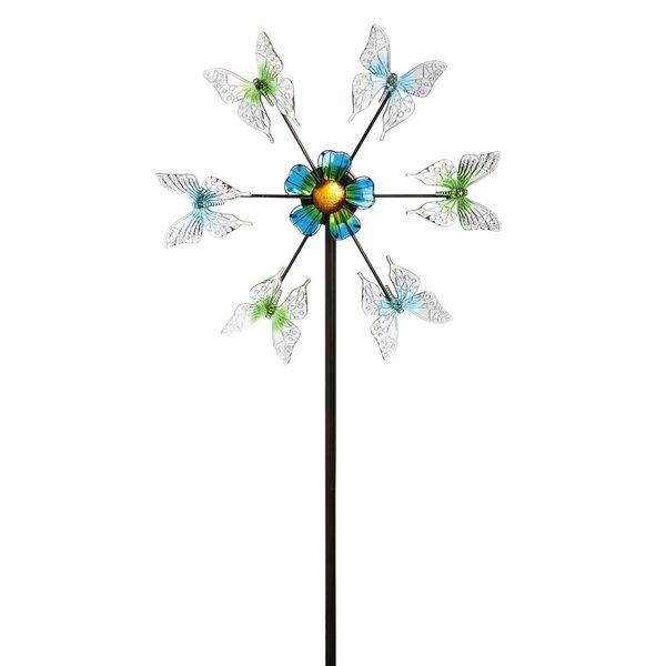 Solar Floating Butterflies Kinetic Garden Stake by Evergreen Enterprises, Inc