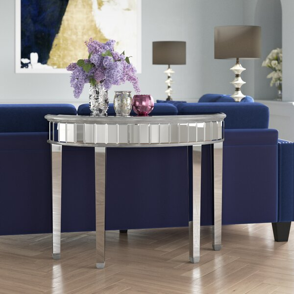 Orpha Half-Circle Console Table by Rosdorf Park