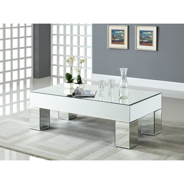 Nevels Mirrored Coffee Table by House of Hampton