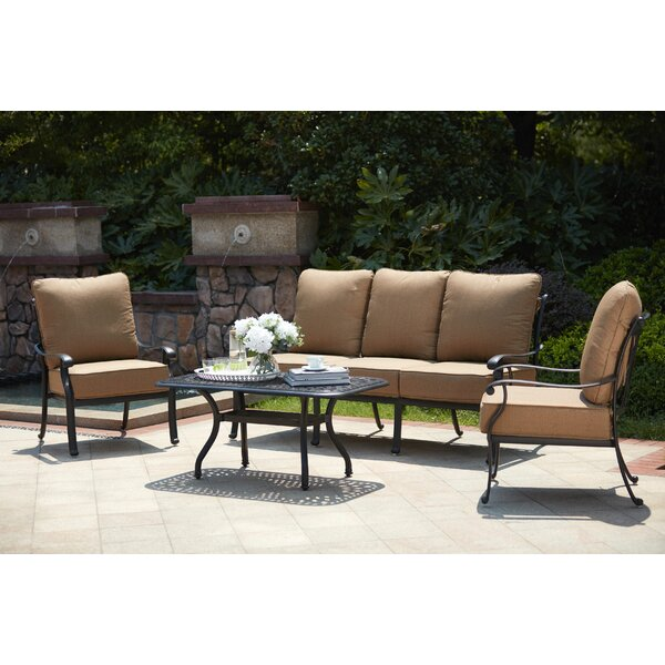 Melchior 4 Piece Sofa Seating Group with Cushions by Astoria Grand
