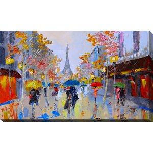 'Paris Stroll' Painting Print on Wrapped Canvas by Picture Perfect International