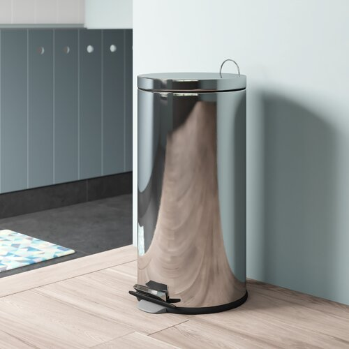 Stainless Steel 30 Litre Kitchen Rubbish Bin Hashtag Home