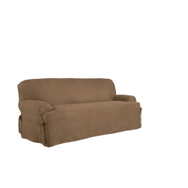T-Cushion Sofa Slipcover by Serta
