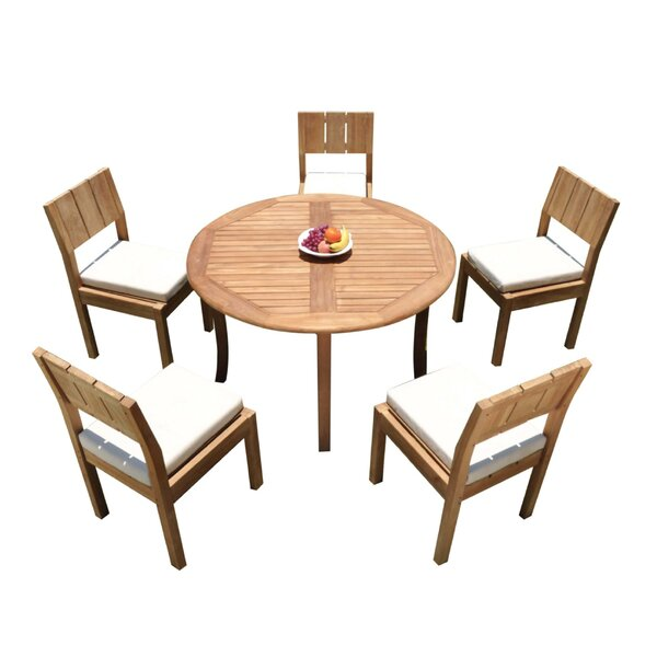 andish 6 Piece Teak Dining Set by Rosecliff Heights