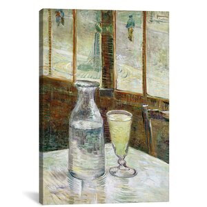 'Still Life with Absinthe' by Vincent Van Gogh Painting Print on Wrapped Canvas by iCanvas