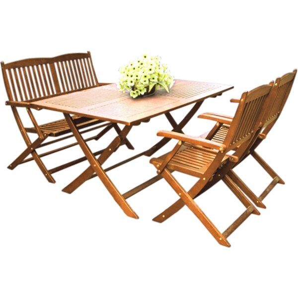Harkless 4 Piece Dining Set by Alcott Hill