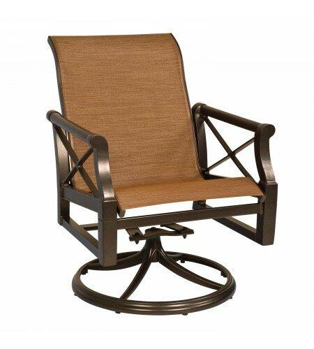 Andover Sling Rocker Swivel Patio Dining Chair by Woodard