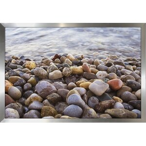 Water Stones 10 Framed Photographic Print by Picture Perfect International