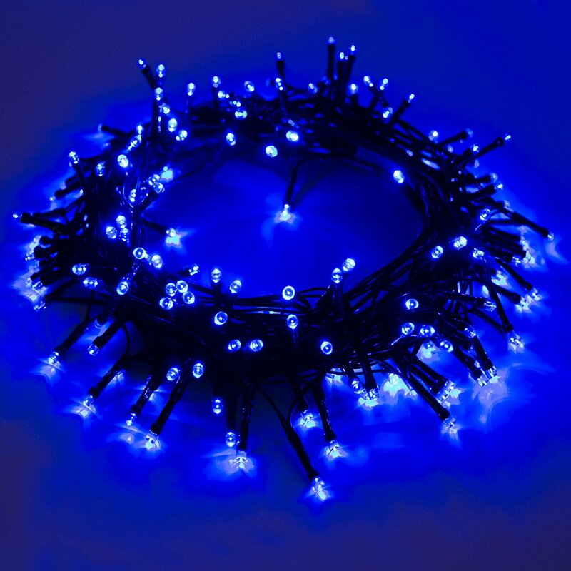 solar powered christmas holiday 200 led light string light