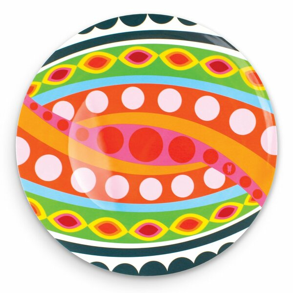 Tropic Fantasia Round Melamine Platter by French Bull