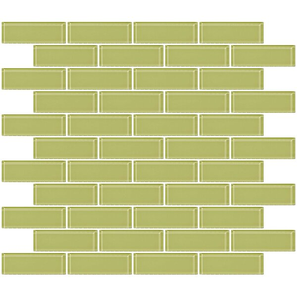 1 x 3 Glass Subway Tile in Celery Green by Susan Jablon