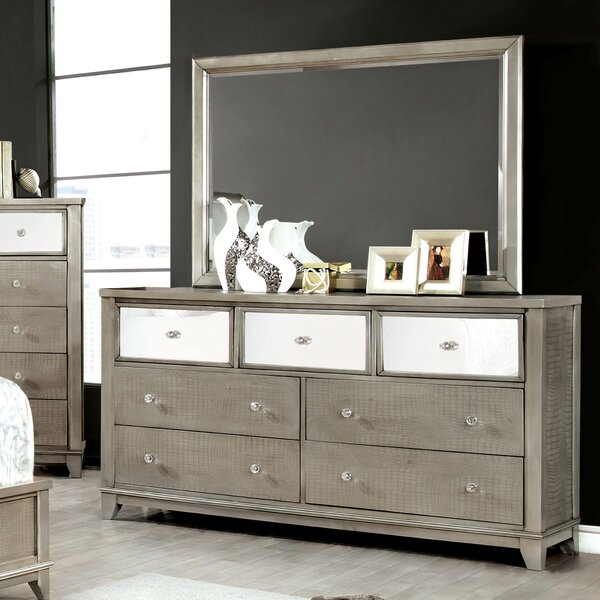 Rogers 7 Drawer Dresser with Mirror by Willa Arlo Interiors