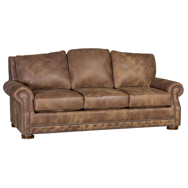 Get Great Tovar Leather Sofa by Loon Peak by Loon Peak