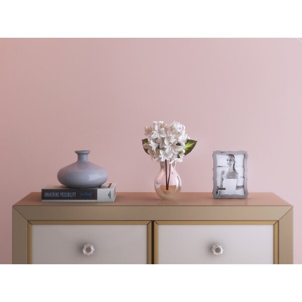 Lily Faux Blooming Hydrangea in Glass Vase by Willa Arlo Interiors