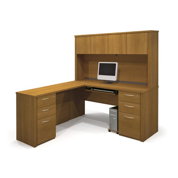 Karyn L-Shape Executive Desk with Hutch by Latitude Run