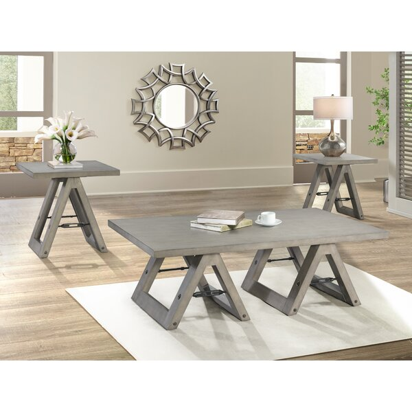 Eliza Sawhorse 3 Piece Coffee Table Set by 17 Stories 17 Stories