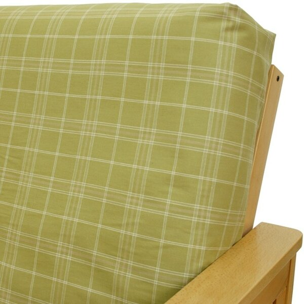 Montrose Sage Box Cushion Futon Slipcover By Easy Fit