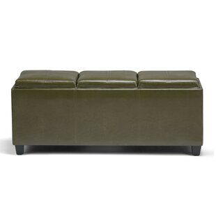 Avalon Faux Leather Storage Bench By Simpli Home