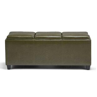 Avalon Rectangular Storage Bench Simpli Home