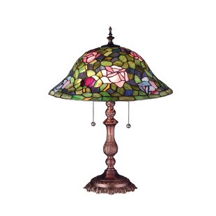 Best Reviews Victorian Rosebush 22 Table Lamp By Meyda Tiffany