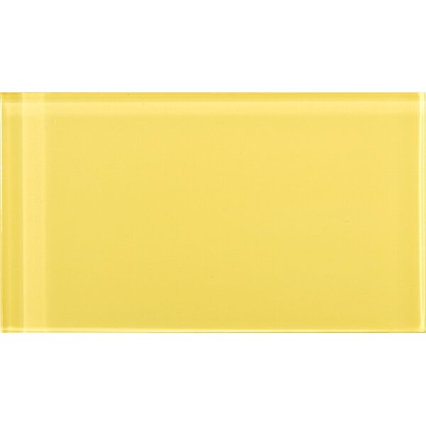 Lucente 3 x 6 Glass Subway Tile in Sunflower by Emser Tile