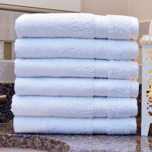 Luxury Hotel/Spa Turkish Cotton Hand Towel (Set of 6) by The Twillery Co.