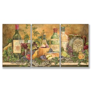 Grapes of Tuscany Triptych 3 Piece Wall Plaque Set by August Grove
