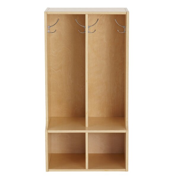 Birch Streamline 2 Section Coat Locker with Bench by ECR4kids
