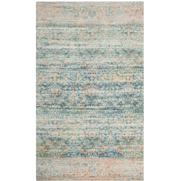 Amanda Blue Area Rug by Bungalow Rose