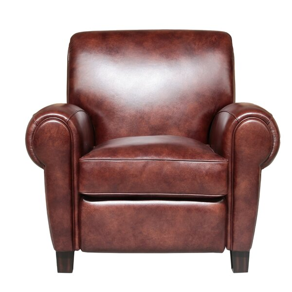 Meadows Leather Manual Recliner by Canora Grey