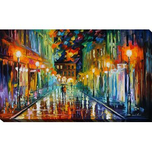 Romantic Evening 2 by Leonid Afremov Painting Print on Wrapped Canvas by Picture Perfect International