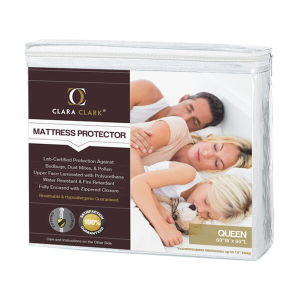 Bed Bug Proof Encasement / Premium Hypoallergenic Waterproof Mattress Protector by Clara Clark