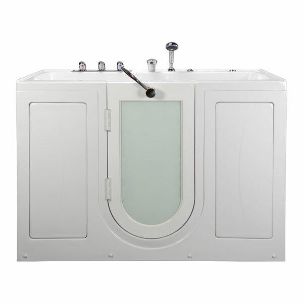 Tub4Two Two Seat Outward Swing Door with Huntington Brass Faucet Hydro Massage 60 x 31.75 Walk in Bathtub by Ella Walk In Baths
