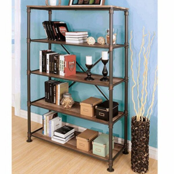 Linzy 5-Tier Etagere Bookcase by 17 Stories