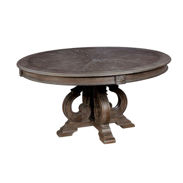Central City Solid Wood Dining Table by Ophelia & Co.