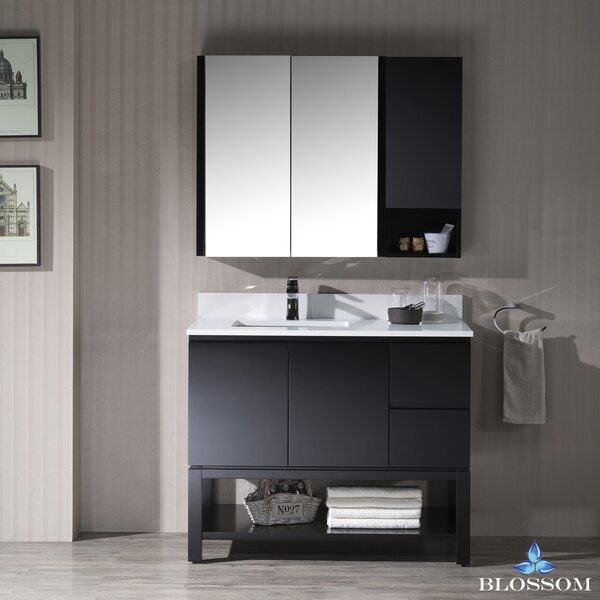 Maly Contemporary 42 Undermount Single Bathroom Vanity Set by Orren Ellis