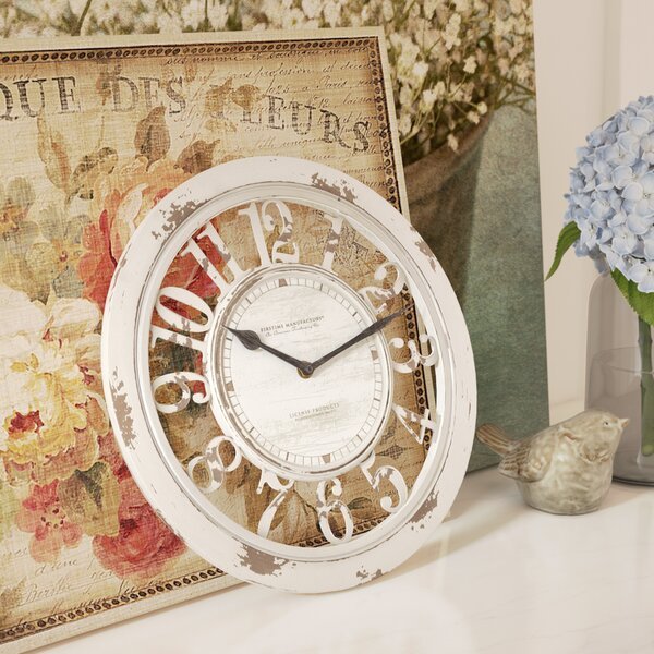 Round Antique Contour 10 Wall Clock by Lark Manor