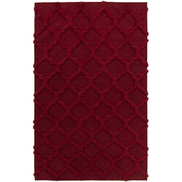 Clarington Red Geometric Rug by Charlton Home