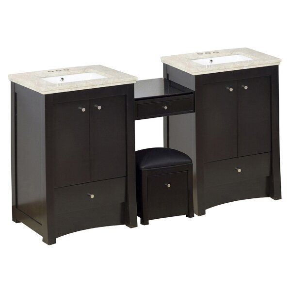 Sharples 69 Double Bathroom Vanity Set
