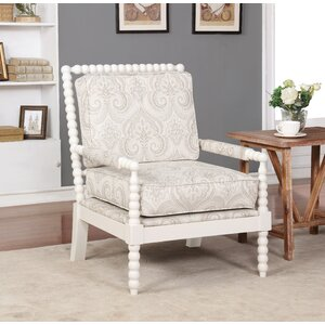 Shellplant Spindal Wood Frame Arm Chair by Bay Isle Home